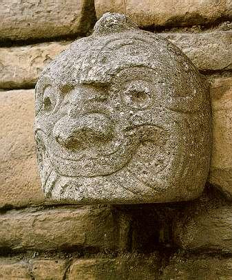 Cabeza clava, en el Templo de Chavín de Huántar
